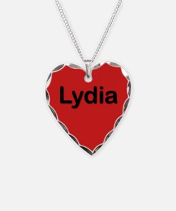 Lydia Red Heart Necklace Charm