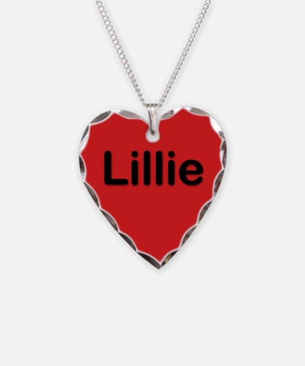 Lillie Red Heart Necklace Charm