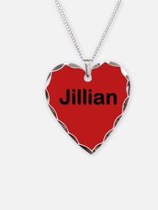 Jillian Red Heart Necklace Charm