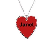 Janet Red Heart Necklace Charm