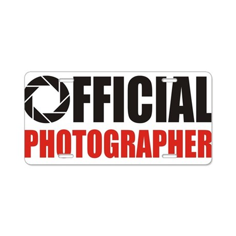 Official Photo App.jpg Aluminum License Plate