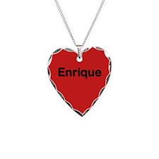 Enrique Red Heart Necklace Charm