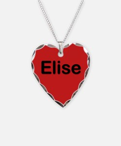 Elise Red Heart Necklace Charm