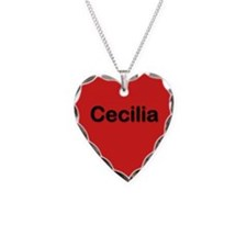 Cecilia Red Heart Necklace Charm