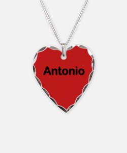 Antonio Red Heart Necklace Charm