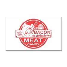 Bacon is Meat Candy Rectangle Car Magnet
