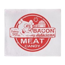 Bacon is Meat Candy Throw Blanket