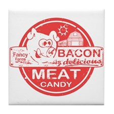 Bacon is Meat Candy Tile Coaster