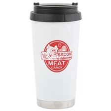 Bacon is Meat Candy Travel Coffee Mug