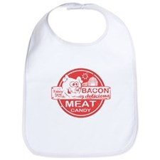 Bacon is Meat Candy Bib