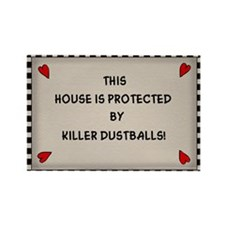 Killer Dustballs Rectangle Magnet