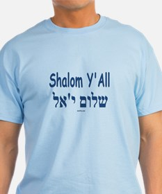 Shalom Y'all Hebrew English T-Shirt