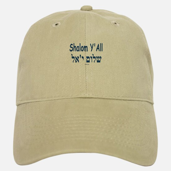 Shalom Y'all Hebrew English Baseball Baseball Cap