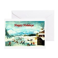 Holiday Hockey - Greeting Cards (Pk of 10)