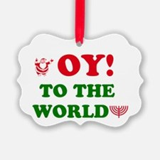 Oy to the World! Ornament