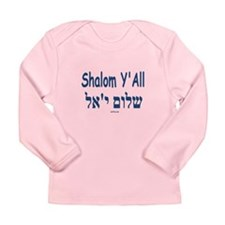 Shalom Y'all Hebrew English Long Sleeve Infant T-S