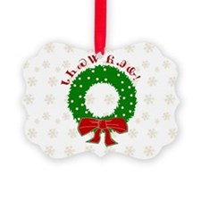 Cherokee Merry Christmas Wreath Ornament