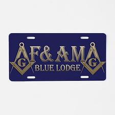 F&AM Aluminum License Plate
