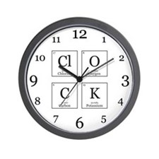 ClOCK [Chemical Elements] Wall Clock