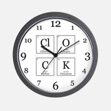 ClOCK [Chemical Elements] Wall Clock