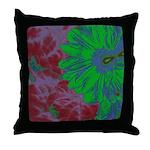 Abstract Gerbera Throw Pillow