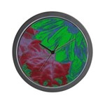 Abstract Gerbera Wall Clock