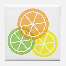 Fruta: Naranja Lima Limon Tile Coaster