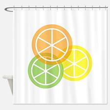 Fruta: Naranja Lima Limon Shower Curtain