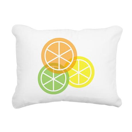 Fruta: Naranja Lima Limon Rectangular Pillow