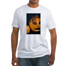 Snake In Pumpkin Fitted T-Shirt