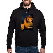 Snake In Pumpkin Hoodie (dark)