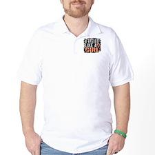 Licensed Fight Like a Girl 31.8 Uterine T-Shirt