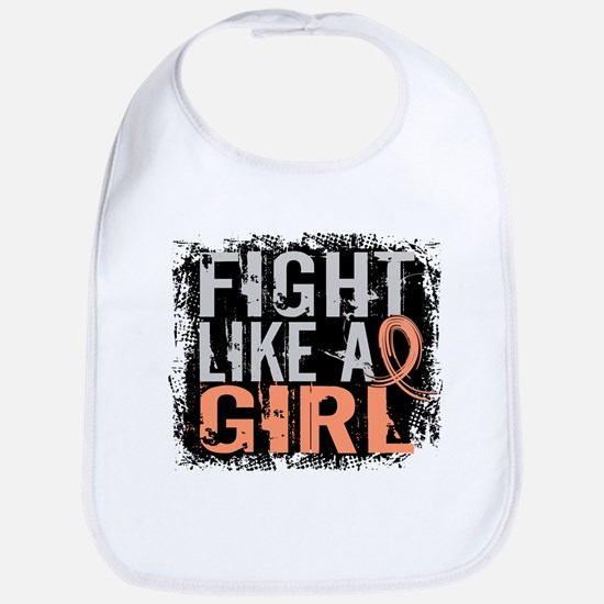 Licensed Fight Like a Girl 31.8 Uterine Cancer Bib
