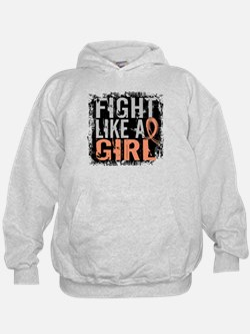 Licensed Fight Like a Girl 31.8 Uterin Hoodie