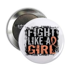 """Licensed Fight Like a Girl 31.8 Uteri 2.25"""" Button"""