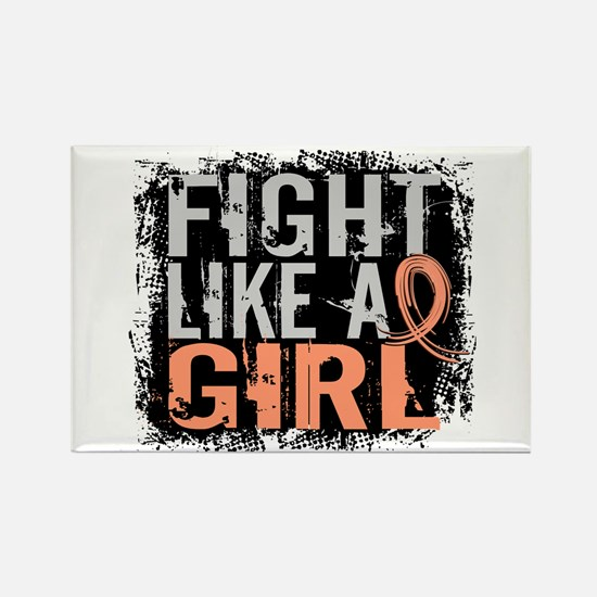 Licensed Fight Like a Girl 31.8 U Rectangle Magnet