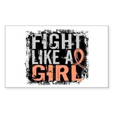 Fight Like a Girl 31.8 Uterine Cancer Shirts Stick