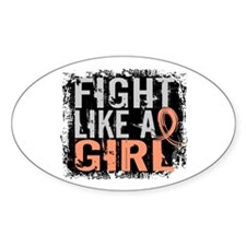 Fight Like a Girl 31.8 Uterine Cancer Shirts Stick
