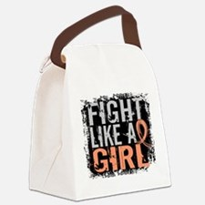 Licensed Fight Like a Girl 31.8 U Canvas Lunch Bag