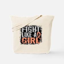Licensed Fight Like a Girl 31.8 Uterine C Tote Bag