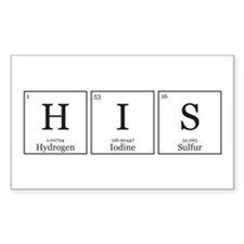 HIS and HErS [Chemical Elements] Decal