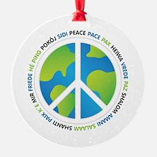 World Peace Sign Ornament