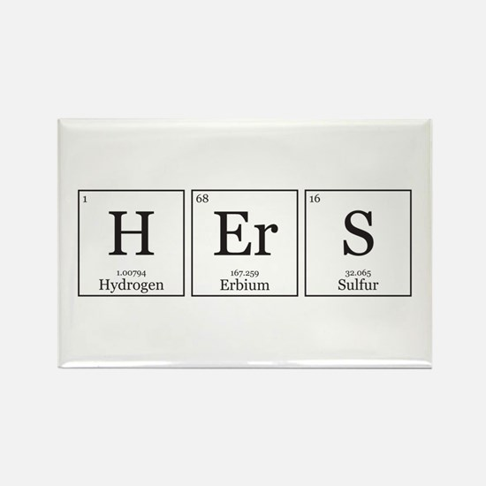 HIS and HErS [Chemical Elements] Rectangle Magnet
