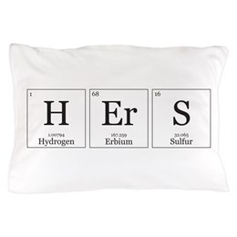 Hers Chemical Element Pillow Case