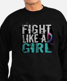 Licensed Fight Like a Girl 31.8 Sweatshirt (dark)