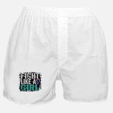 Licensed Fight Like a Girl 31.8 Thyro Boxer Shorts