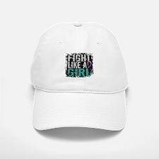 Licensed Fight Like a Girl 31.8 Thyroid Cancer Baseball Baseball Cap