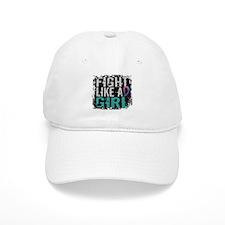 Licensed Fight Like a Girl 31.8 Thyroid Cancer Baseball Cap
