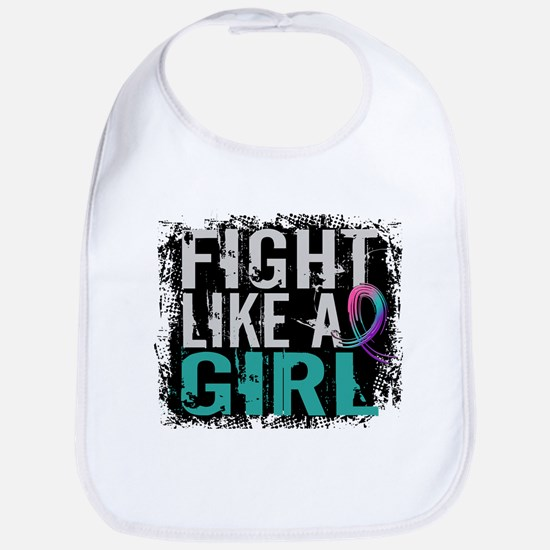 Licensed Fight Like a Girl 31.8 Thyroid Cancer Bib