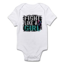 Licensed Fight Like a Girl 31.8 Th Infant Bodysuit